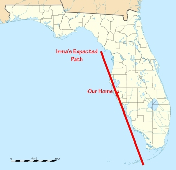 Florida and Irma's Expected Path