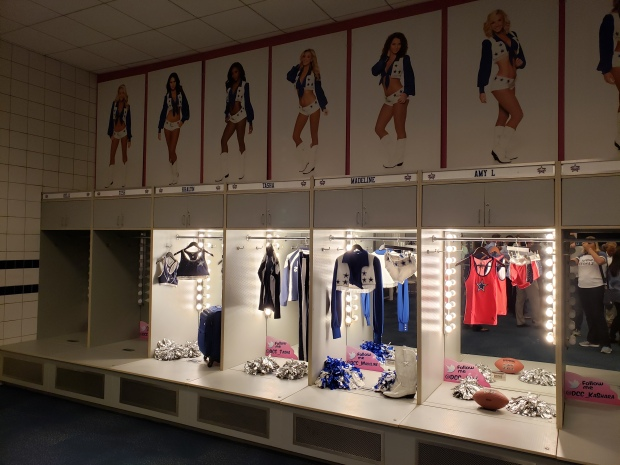 Cowboys Cheerleaders' Locker Room