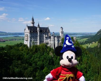 Neuschwanstein Castle and Mickey!