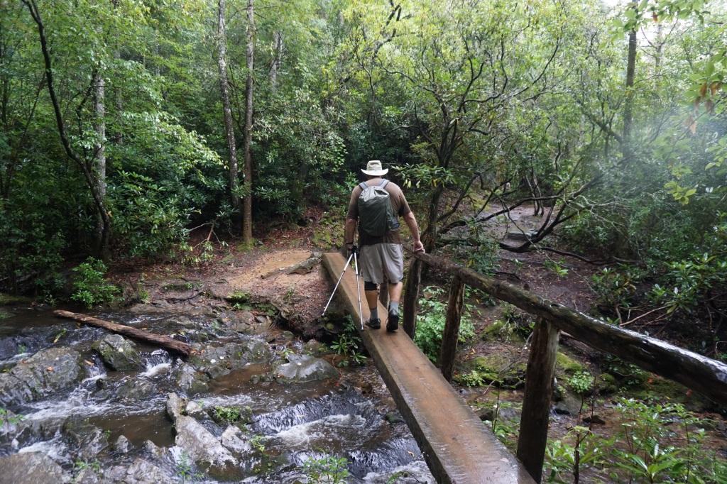 My Husband Hiking Abrams Falls Trail